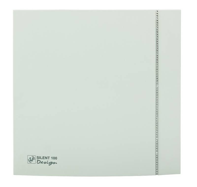 Ventilator SILENT 100 DESIGN SWAROWSKI WHITE CZ